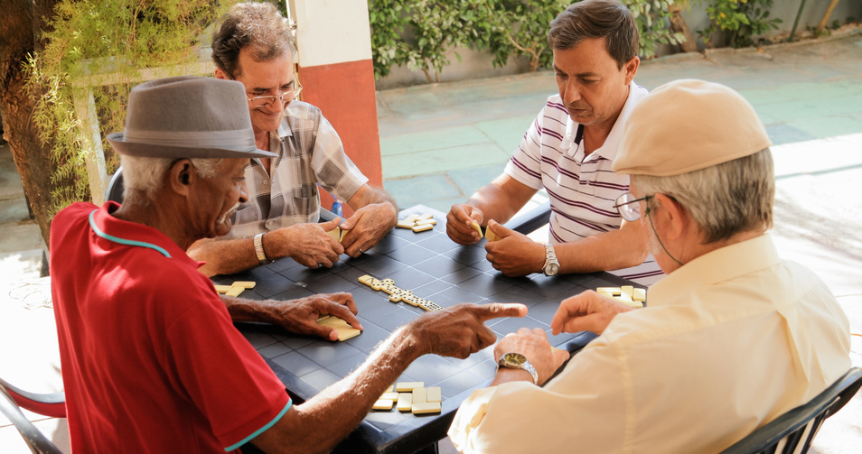 Cuban Men playing Domino